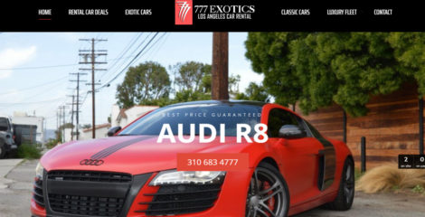 777 Exotic Los Angeles Car Rental